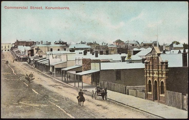 Commercial Street, Korumburra, 1910. State Library of Victoria Image H84.233/185.