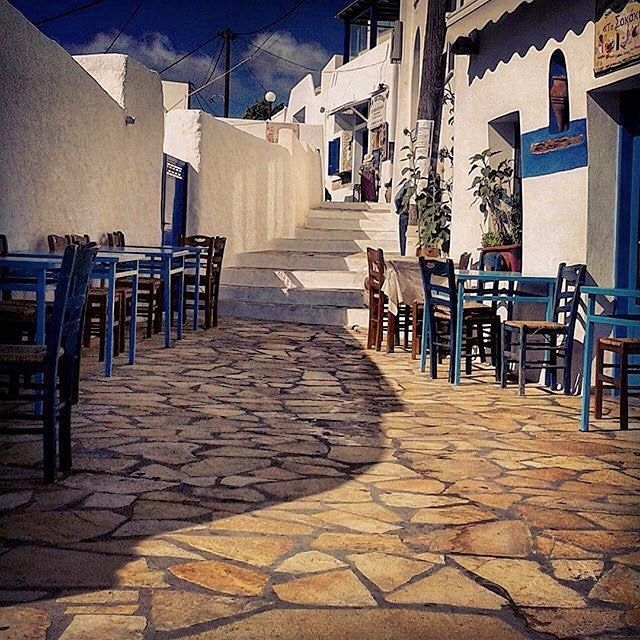 Beautiful traditional tavern in the village of Chora , at Anafi island (Ανάφη). Very small island without mass tourism with lovely unorganized beaches !
