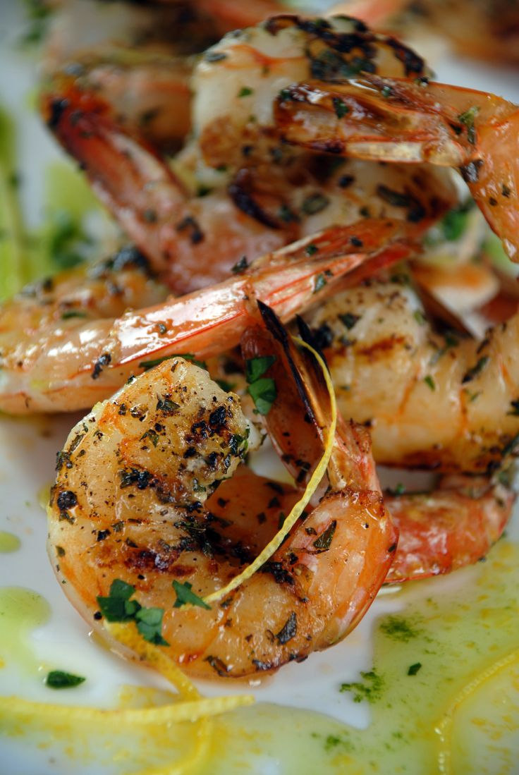 Garlic Grilled Shrimp http://gustotv.com/recipes/appetizer/herb-garlic ...