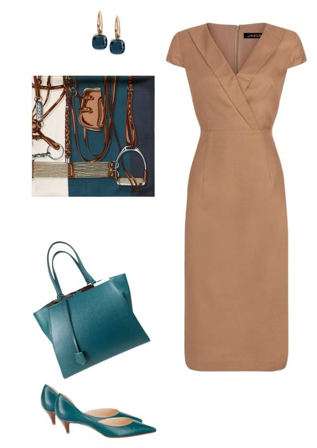 """""""Classic"""" by alisonstylecoaching on Polyvore featuring Jaeger, Gucci, Fendi, Christian Louboutin and Pomellato"""