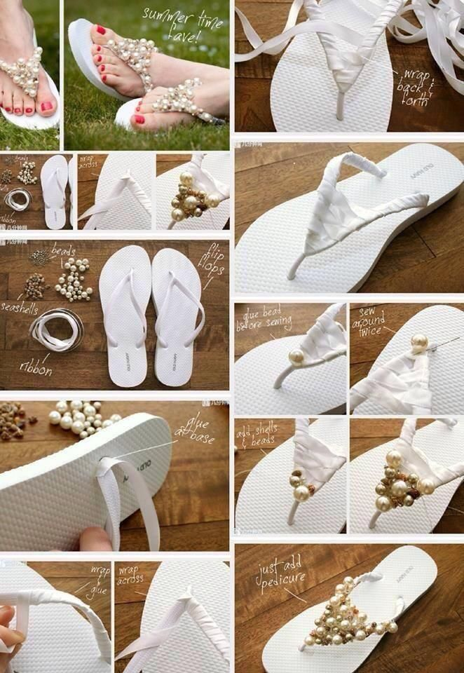 beautiful beaded flip flops.