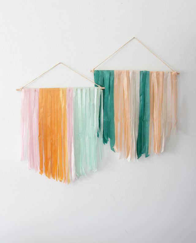 DIY Tissue Paper Banner added a bright and modern touch to our party.