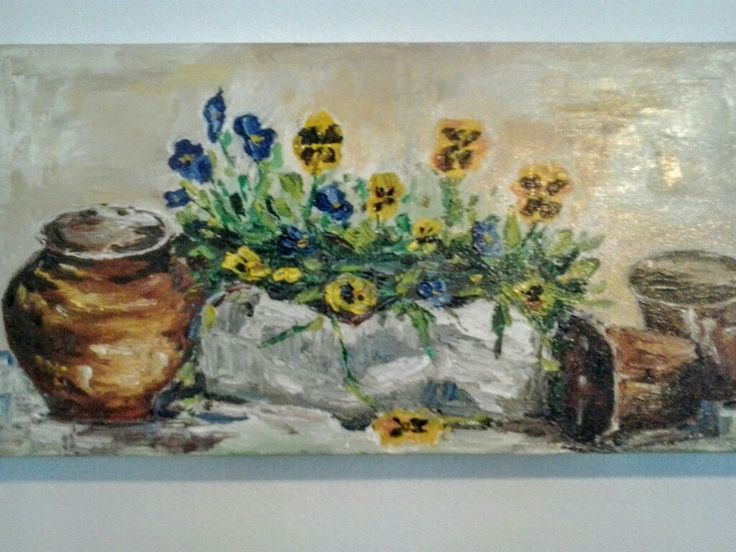 Oil on canvas painted by Ariela Salcini