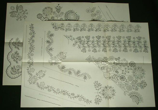 czech embroidery patterns | ... Czech Folk Costume regional Bohemian ethnic fashion embroidery pattern
