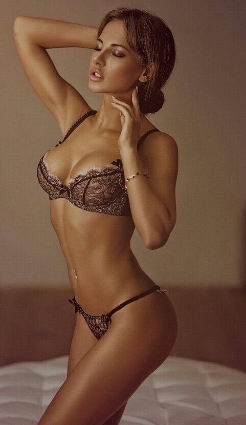 In lingerie pretty woman