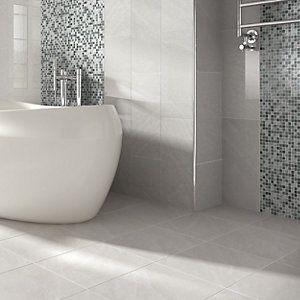 Wickes Kensington Grey Stone Effect Ceramic Wall Tile 600x300mm | Wickes.co.uk