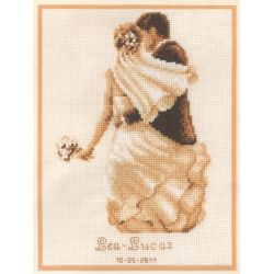Private Moment Wedding Sampler - A Vervaco counted cross stitch Kit