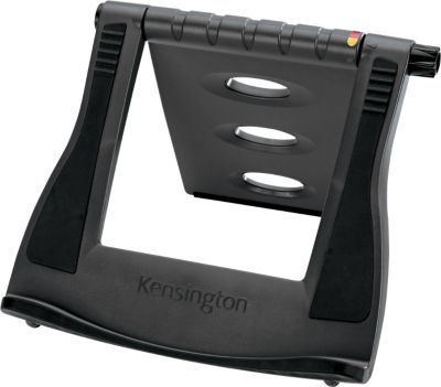 Kensington® SmartFit™ Easy Riser™ Laptop Cooling Stand.  In conjunction with an external keyboard, when used with Flivel Standard Flat table, you are all set for a more Ergonomic, neck & back pain free Laptop or Tablet experience.