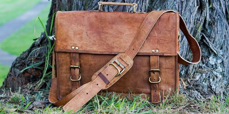 Vintage Goat Leather Duffle Bag