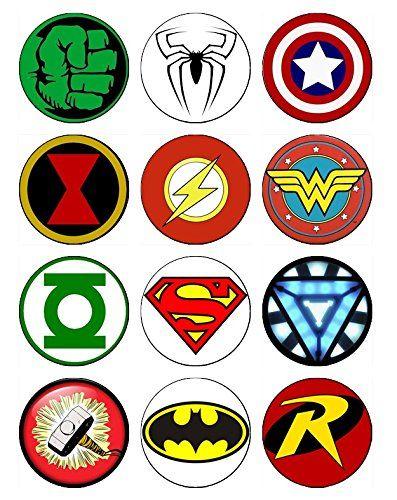 12 EDIBLE Superhero Cupcake Toppers, superheroes, super hero, spiderman cupcake toppers, batman cupcake toppers, hulk cupcake ABC Images http://www.amazon.com/dp/B00WP4U68A/ref=cm_sw_r_pi_dp_rwnBvb0DTMFY6