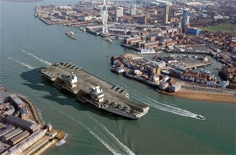 Britain's largest warship HMS Queen Elizabeth nears completion - Telegraph