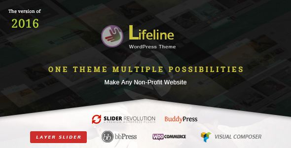 Lifeline is a clean, highly flexible and beautifully designed charity WordPress theme with fresh and mobile-friendly layout. The 13 unique homepages offer as many styles for your website, each of which follows the latest trends of 2015. You can use it for fundraising, NGO, nonprofit or any other related project.