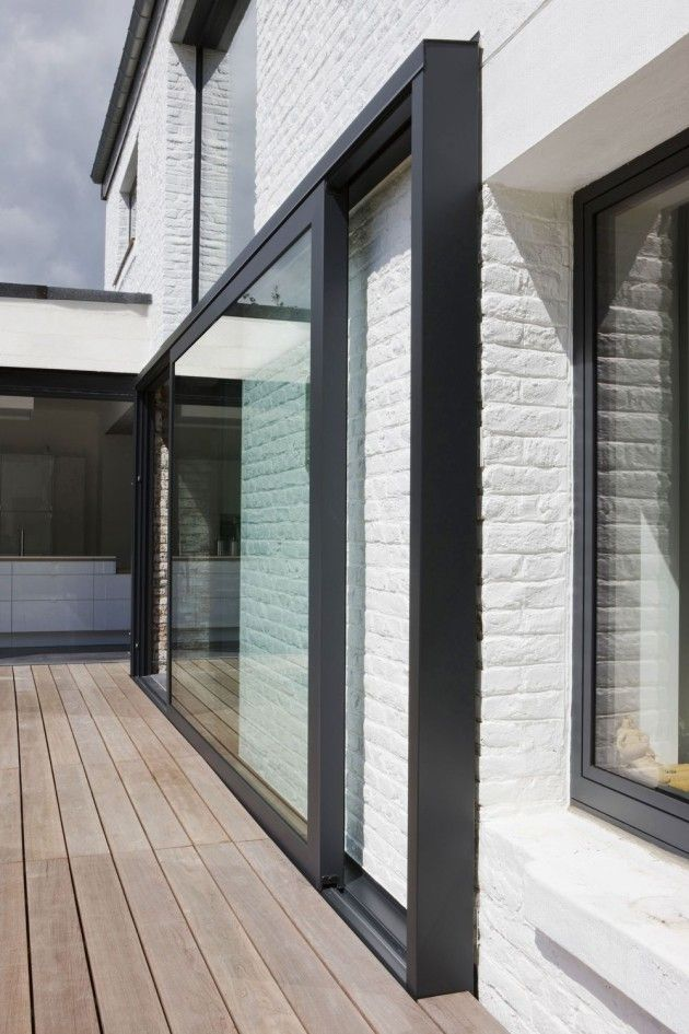 pop out extra wide aluminium glazed door section