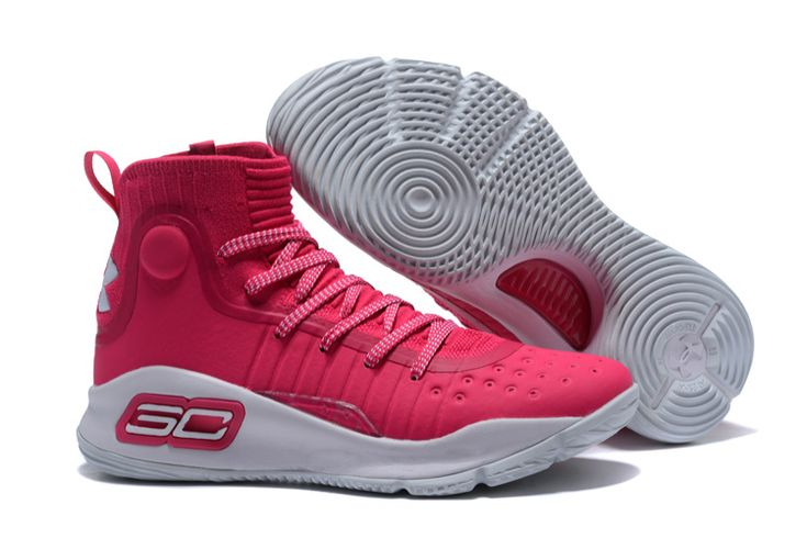2017 Cheap Under Armour Curry 4 Pink White For Sale