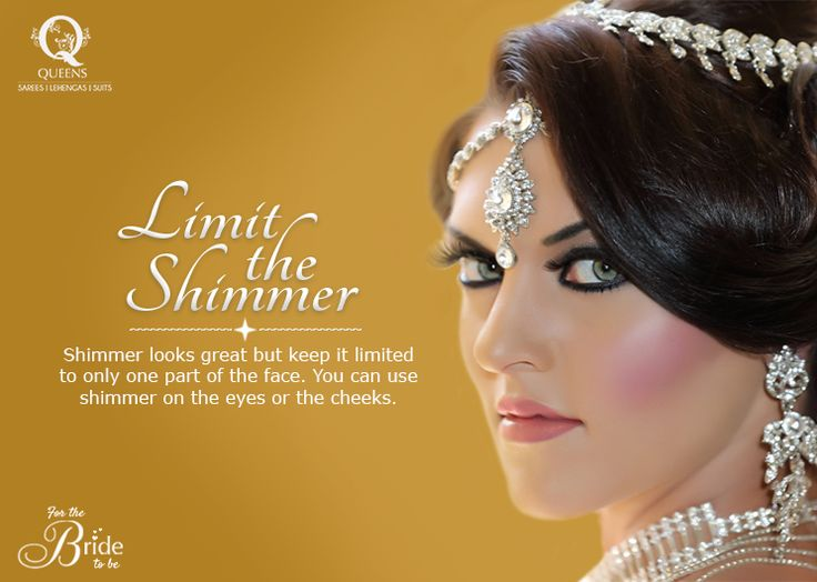 Shimmer looks great but keep it limited to only one part of the face. #QueensEmporium #Sarees #makeup