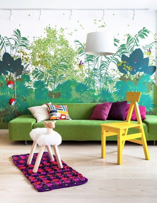 10 ambientes decorados com o verde Greenery, a cor de 2017 da Pantone (Foto: reprodução)