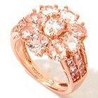 118-782 - NYC II 3.33ctw Morganite, Pink Sapphire & Diamond Flower Ring