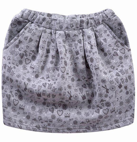 """Spódnica bombka z kieszeniami dla dziewczynki. Kolekcja: """"Z głową w chmurach"""""""