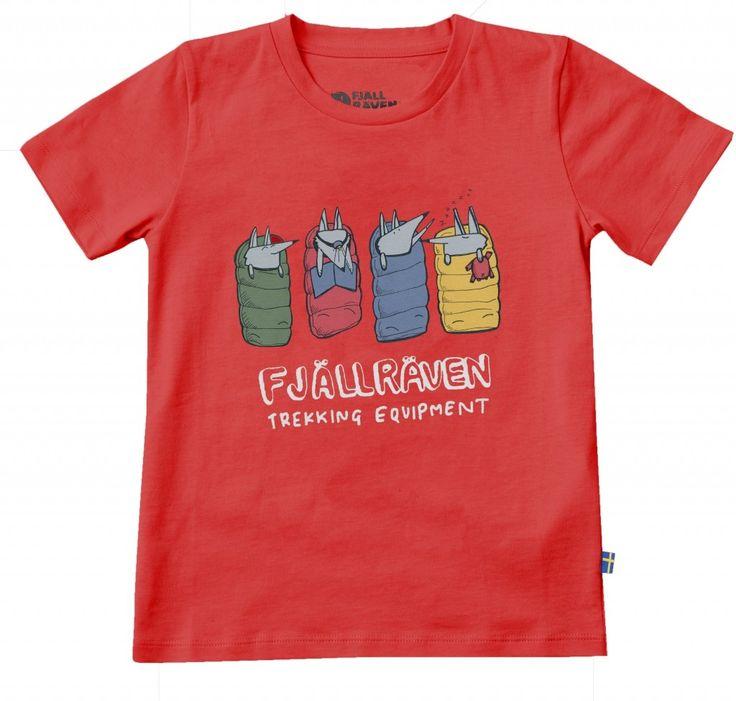 Fjellreven Kids Sleeping Foxes T-shirt - Barn
