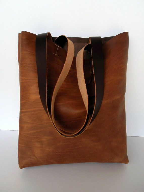 Brown Leather Tote Bag - Brown Leather Bag -  Leather Bag- Leather  Tote- leather tote,brown leather tote