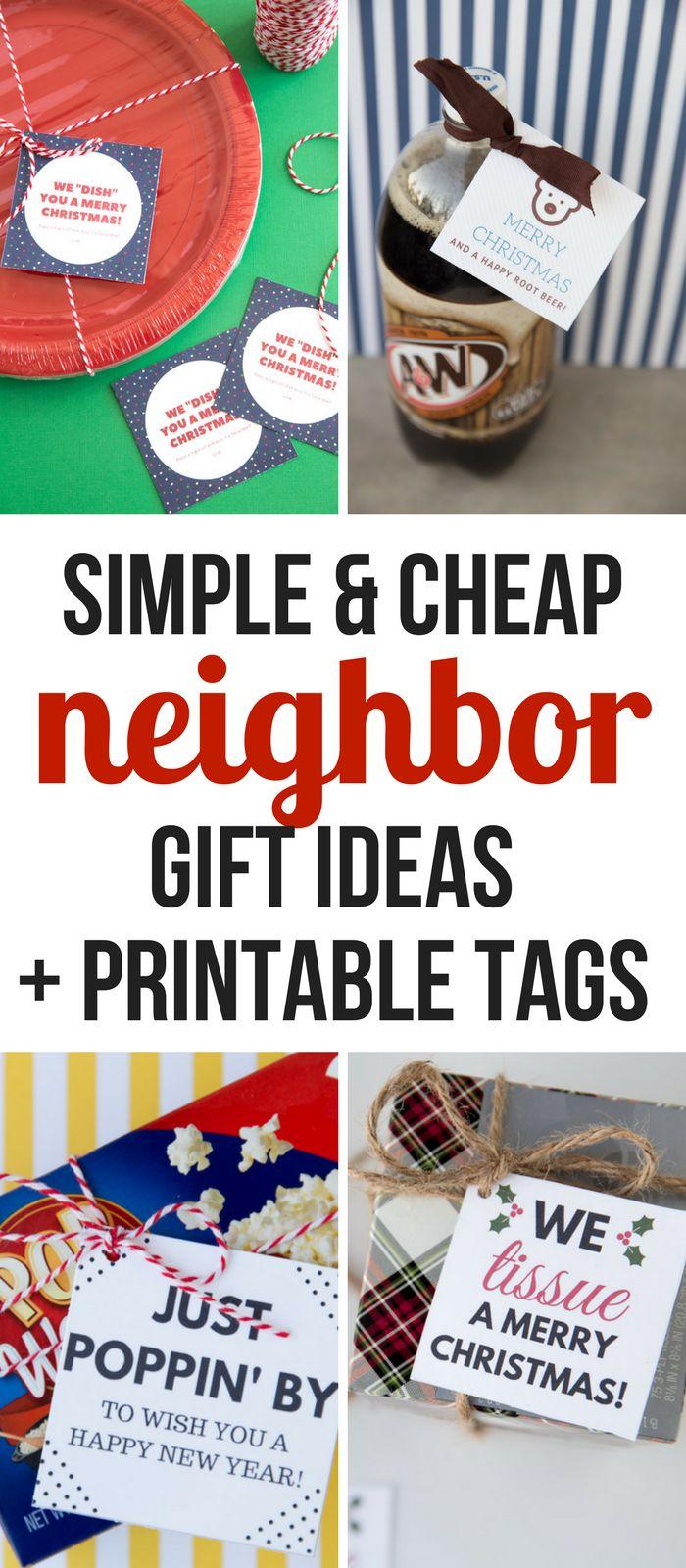 Simple- Christmas- Neighbor -Gift- Ideas and printable tags- cheap -neighbor- gift- ideas