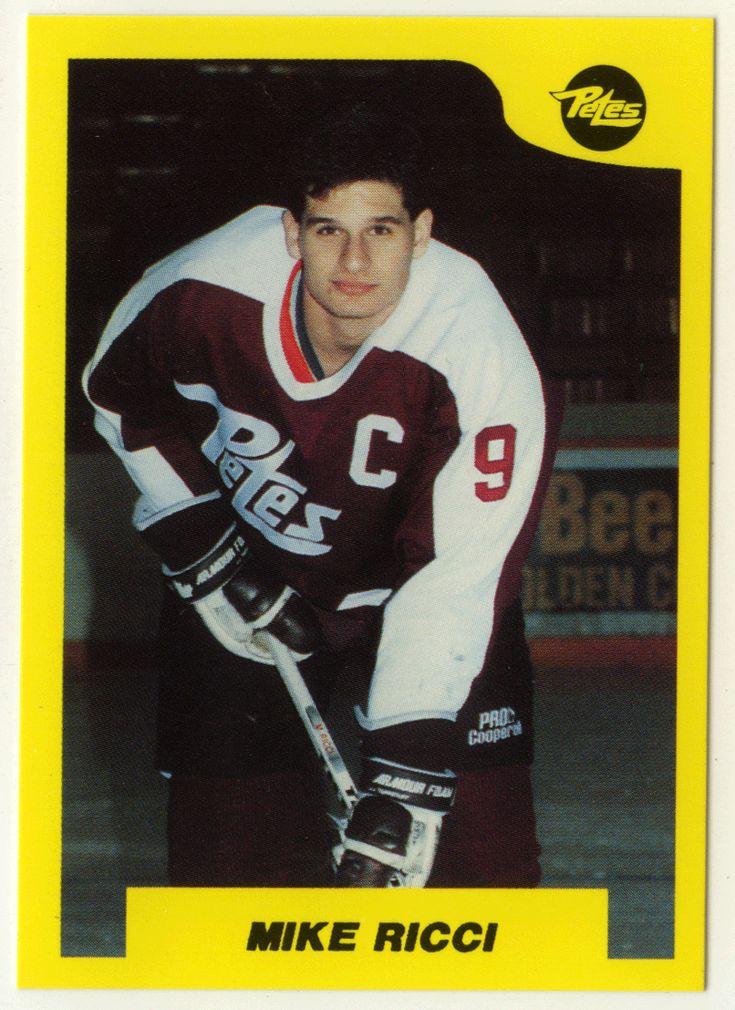 Mike Ricci # 100 - 1989-90 7th Inning Sketch OHL Hockey