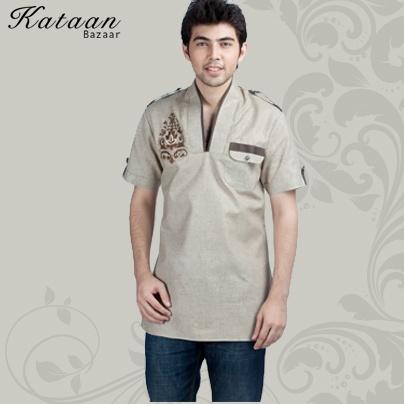 Light Brown Cotton Kurti