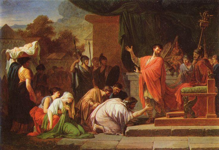 King Perseus before Aemilius Paulus. Jean-François-Pierre Peyron