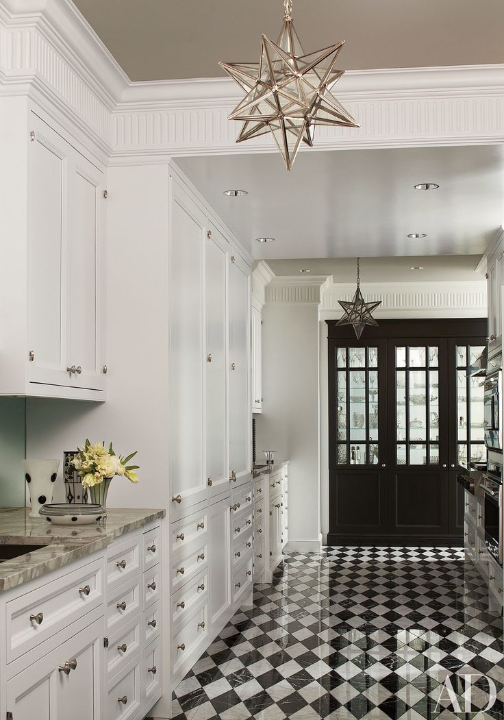 Black And White Traditional Kitchen best 25+ checkerboard floor ideas only on pinterest | retro