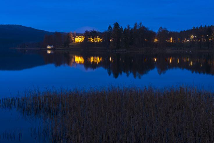 View of Bogstad farm at night.