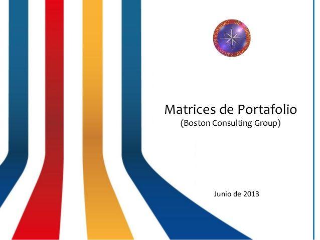 Matriz de Portafolio - Matriz BCG - Matriz Boston Consulting Group