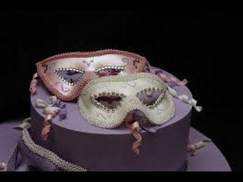 Torta di carnevale in pasta di zucchero , cake fondant decorating - YouTube