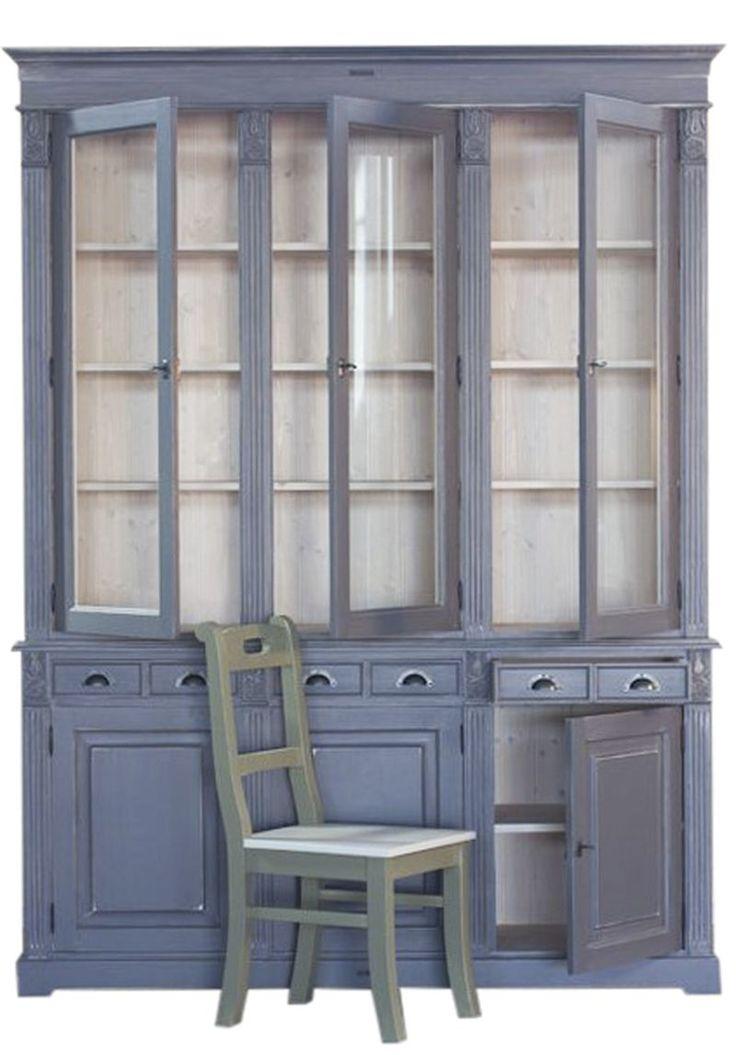 MMW K 18 FÜ komód 3 ajtó+ 3 fiók, felső üveges rész 3 üvegajtó | My Mood Wood