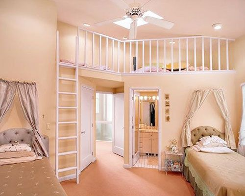 Have ALWAYS wanted a room like this with a mini second floor... It would be a library in my room