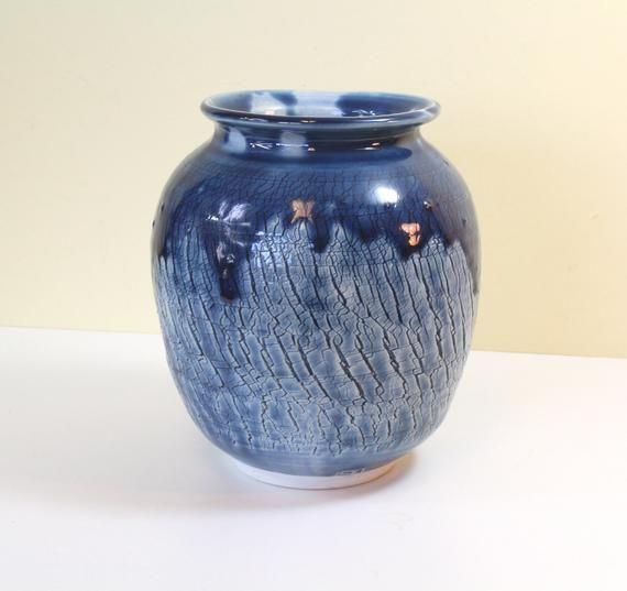 Teal Green /& White Drip Bud Vase