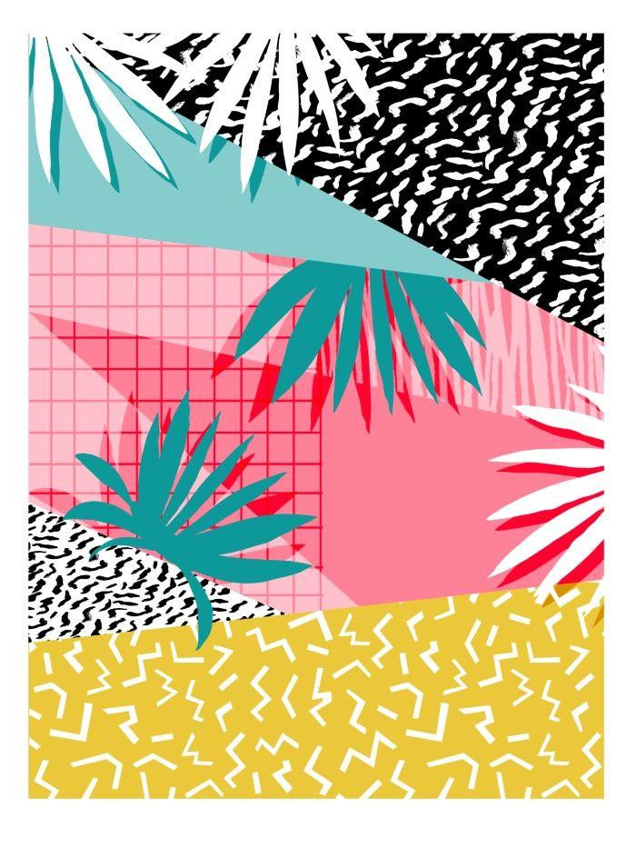 Bingo - throwback retro memphis neon tropical socal desert festival trendy…
