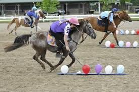 pop the balloons - Gymkhana Horse Games