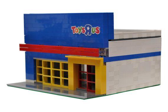 Magasin de jouets de ville personnalisé modèle construite avec vrais Legos (R)