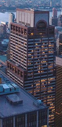 The AXA Equitable Center (originally The Equitable Tower or Equitable Center West) is an American 752-foot (229.3 m)-tall skyscraper, located at 787 Seventh Avenue between 51st and 52nd Streets in Manhattan, New York City.