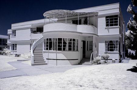 Decopix the art deco architecture site art deco houses for Streamline moderne house plans
