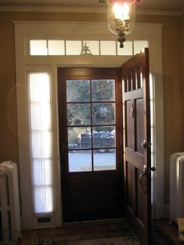 25 best ideas about storm doors on pinterest front for Wood front door with storm door