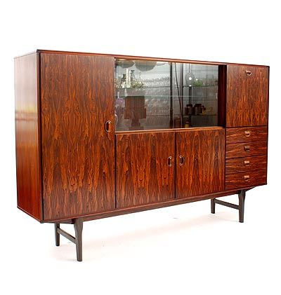 Found on www.botterweg.com - Wall unit with doors drawers and display section design Arnold Merckx Jr 1967 execution Fristho Franeker / the Netherlands