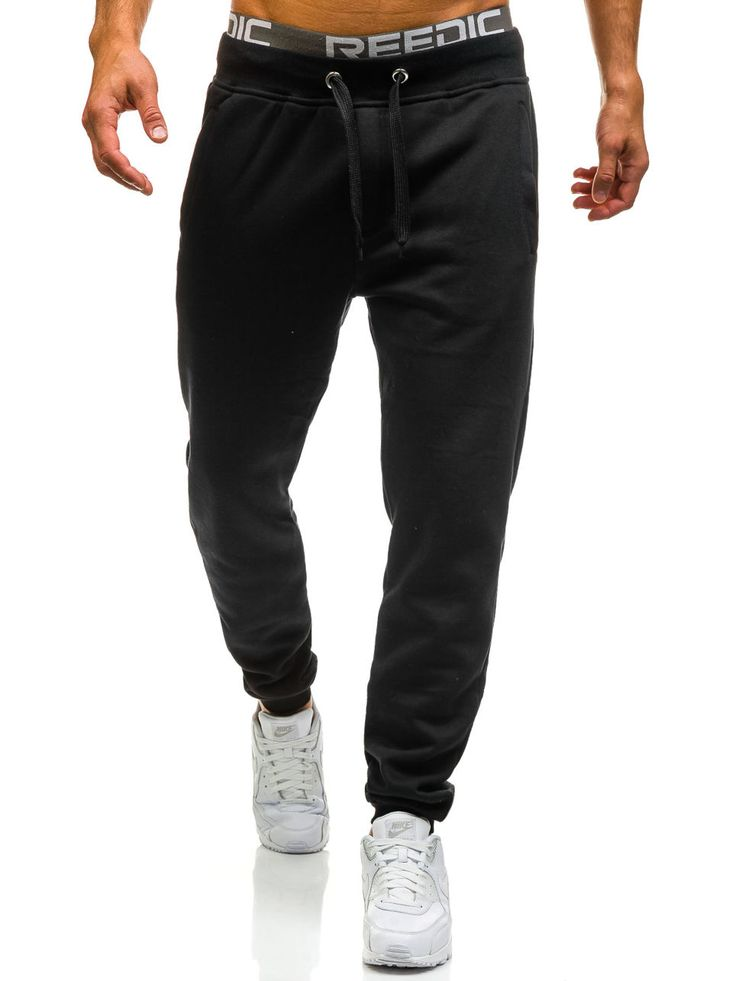 Black men's trousers Manufactured for Bolf by J.Style The model (182 cm, 82 kg) is wearing size XL Fabric: 65% Cotton, 35% Polyester