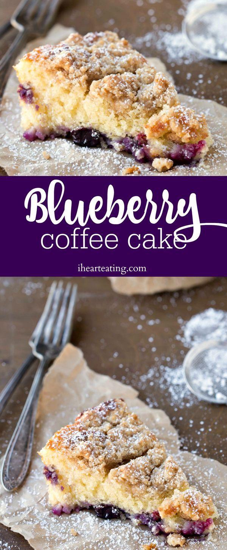 Blueberry Coffee Cake Recipe - easy breakfast or dessert recipe!