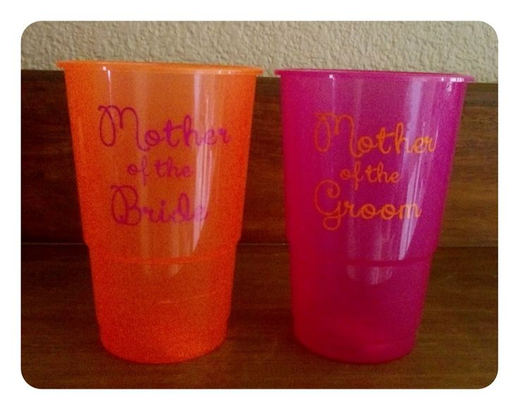 Vinyl wording on cups