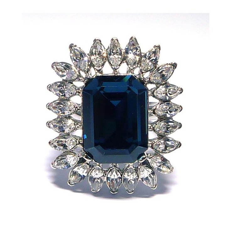 Kenneth Jay Lane Princess Montana Sapphire Ring