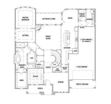 Tandem garage house plans pinterest tandem houston for Tandem garage house plans
