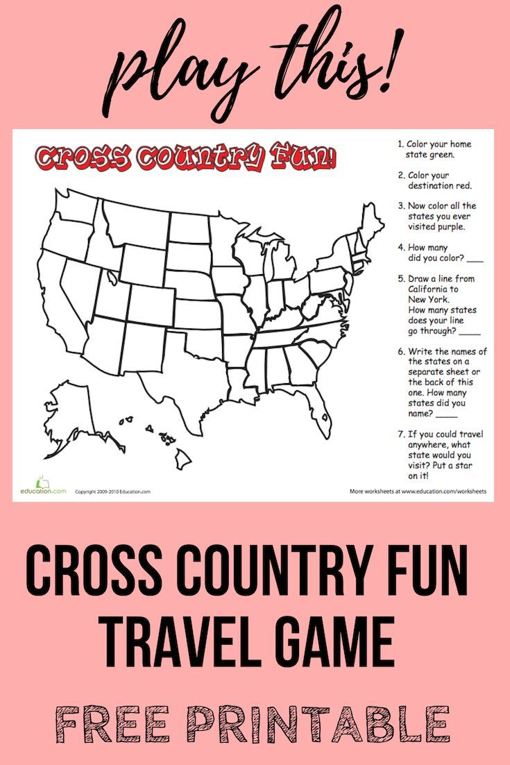 Whether You Re Going Cross Country Or Just Going To Grandma S House You And Your Child Can Hav Geography Worksheets Elementary Activities Educational Articles [ 1102 x 735 Pixel ]