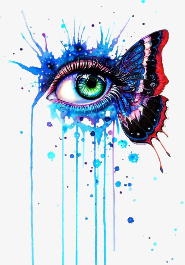 Painted Tears Eyes Painted Cry Eye Png Transparent Clipart