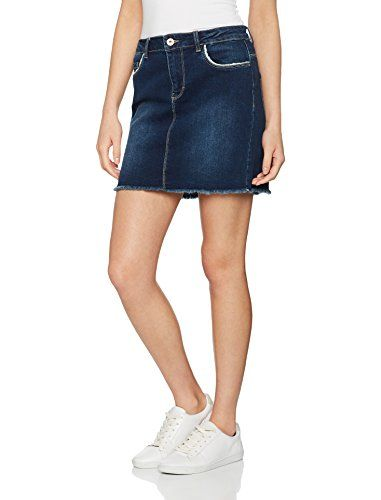 d9bd3b3b41be ONLY Damen Rock onlPHOEBE Blue RAW DNM Skirt Box PIM Blau (Dark ...